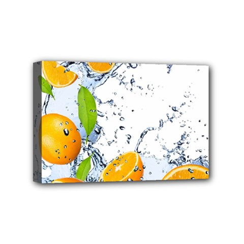 Fruits Water Vegetables Food Mini Canvas 6  X 4  by BangZart
