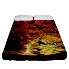 Mars Fitted Sheet (king Size) by Valentinaart