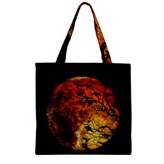 Mars Zipper Grocery Tote Bag by Valentinaart