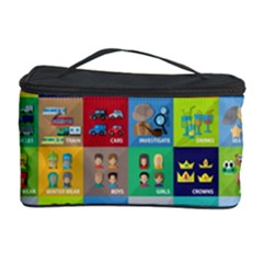 Exquisite Icons Collection Vector Cosmetic Storage Case by BangZart