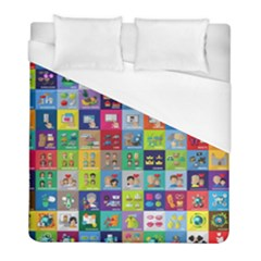 Exquisite Icons Collection Vector Duvet Cover (full/ Double Size) by BangZart