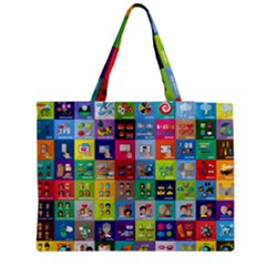 Exquisite Icons Collection Vector Medium Tote Bag by BangZart