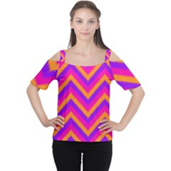 Chevron Cutout Shoulder Tee