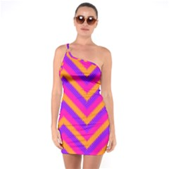 Chevron One Soulder Bodycon Dress