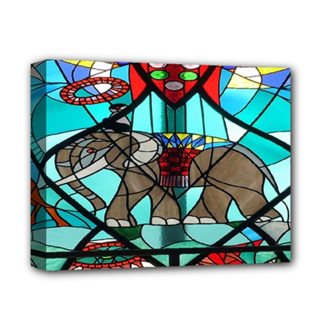 Elephant Stained Glass Deluxe Canvas 14  X 11  by BangZart