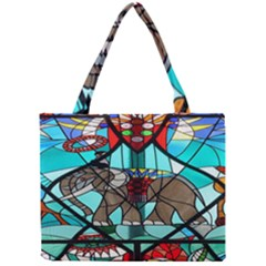Elephant Stained Glass Mini Tote Bag