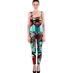 Elephant Stained Glass Onepiece Catsuit