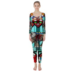 Elephant Stained Glass Long Sleeve Catsuit by BangZart