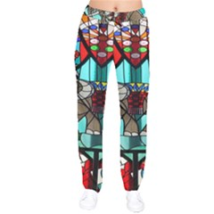 Elephant Stained Glass Drawstring Pants