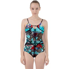 Elephant Stained Glass Cut Out Top Tankini Set