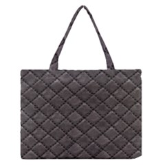 Seamless Leather Texture Pattern Medium Zipper Tote Bag