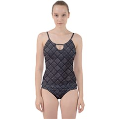 Seamless Leather Texture Pattern Cut Out Top Tankini Set