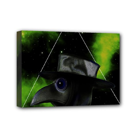 Bird Man  Mini Canvas 7  X 5  by Valentinaart
