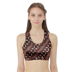 Art Traditional Batik Pattern Sports Bra With Border