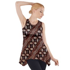 Art Traditional Batik Pattern Side Drop Tank Tunic