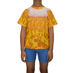 Beer Alcohol Drink Drinks Kids  Short Sleeve Swimwear