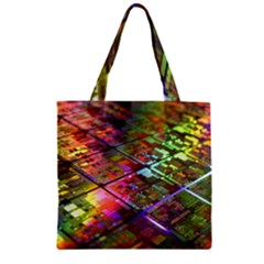 Technology Circuit Computer Zipper Grocery Tote Bag by BangZart