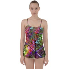 Technology Circuit Computer Babydoll Tankini Set