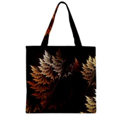 Fractalius Abstract Forests Fractal Fractals Zipper Grocery Tote Bag by BangZart