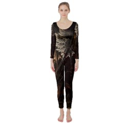 Fractalius Abstract Forests Fractal Fractals Long Sleeve Catsuit by BangZart