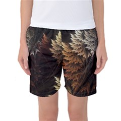Fractalius Abstract Forests Fractal Fractals Women s Basketball Shorts by BangZart