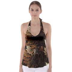 Fractalius Abstract Forests Fractal Fractals Babydoll Tankini Top