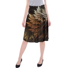 Fractalius Abstract Forests Fractal Fractals Midi Beach Skirt by BangZart