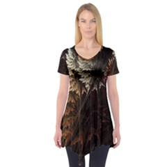 Fractalius Abstract Forests Fractal Fractals Short Sleeve Tunic