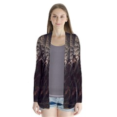 Fractalius Abstract Forests Fractal Fractals Drape Collar Cardigan by BangZart