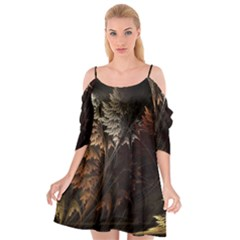 Fractalius Abstract Forests Fractal Fractals Cutout Spaghetti Strap Chiffon Dress by BangZart