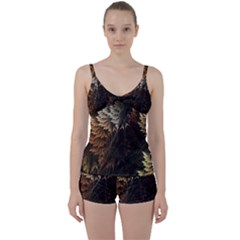 Fractalius Abstract Forests Fractal Fractals Tie Front Two Piece Tankini