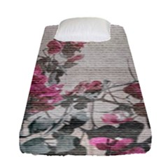 Shabby Chic Style Floral Photo Fitted Sheet (single Size) by dflcprints