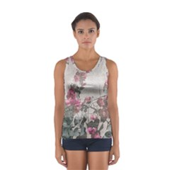 Shabby Chic Style Floral Photo Sport Tank Top  by dflcprintsclothing