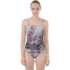 Shabby Chic Style Floral Photo Cut Out Top Tankini Set