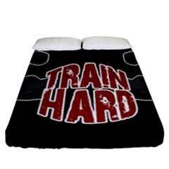 Train Hard Fitted Sheet (california King Size) by Valentinaart