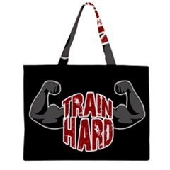 Train Hard Zipper Large Tote Bag by Valentinaart