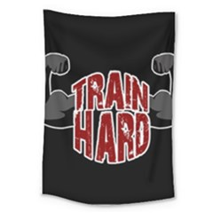 Train Hard Large Tapestry by Valentinaart