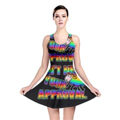 Dont Need Your Approval Reversible Skater Dress by Valentinaart