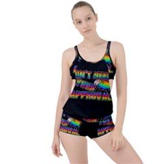 Dont Need Your Approval Boyleg Tankini Set  by Valentinaart