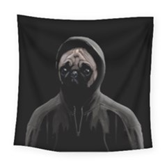 Gangsta Pug Square Tapestry (large)