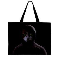 Gangsta Cat Medium Zipper Tote Bag by Valentinaart