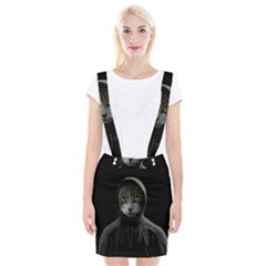 Gangsta Cat Braces Suspender Skirt