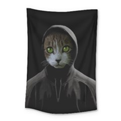 Gangsta Cat Small Tapestry by Valentinaart