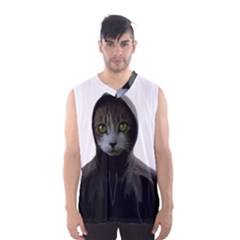 Gangsta Cat Men s Basketball Tank Top by Valentinaart