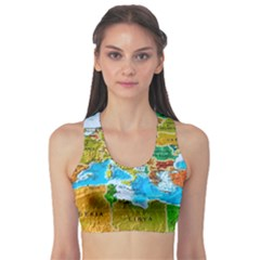 World Map Sports Bra