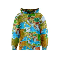 World Map Kids  Pullover Hoodie by BangZart