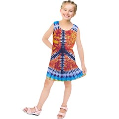Tie Dye Peace Sign Kids  Tunic Dress