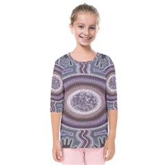 Spirit Of The Child Australian Aboriginal Art Kids  Quarter Sleeve Raglan Tee