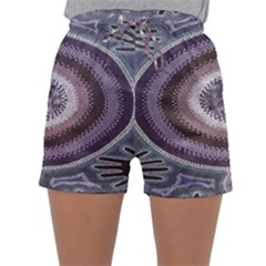 Spirit Of The Child Australian Aboriginal Art Sleepwear Shorts