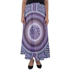 Spirit Of The Child Australian Aboriginal Art Flared Maxi Skirt